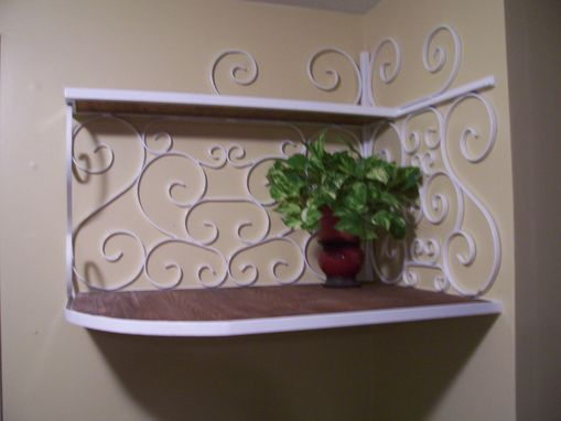 Custom Made Scroll Work Shelf