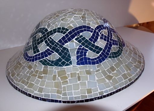 Custom Made Glass Mosaic Ceiling Light Fixture