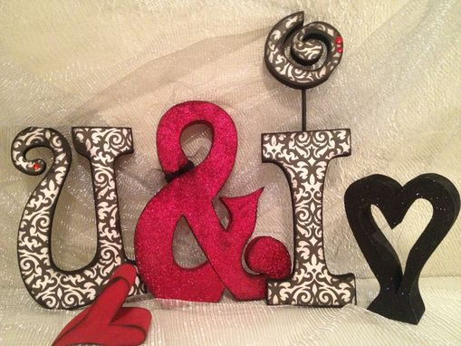 "Custom Made Custom Wood Letter Set--""U And I"""