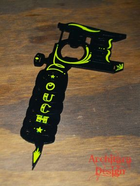 Custom Made Custom Bottle Opener- With Out Or With Pin Striping