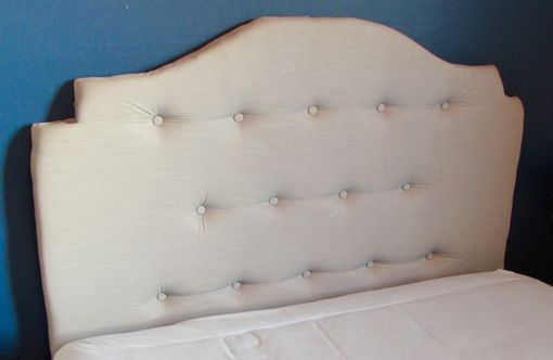 Custom Made Tufted Linen Headboard
