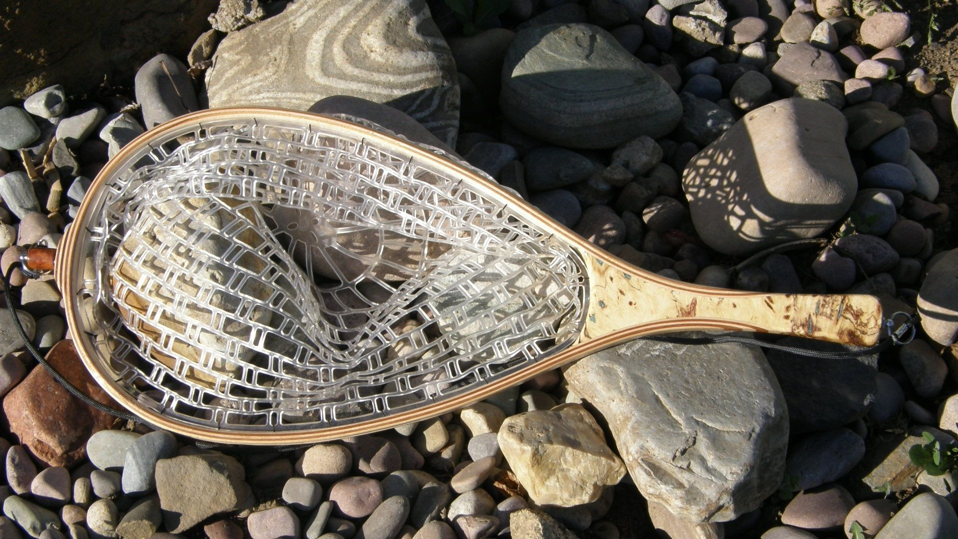 Hand made fly fishing landing net by bitterroot net co for Fly fishing net