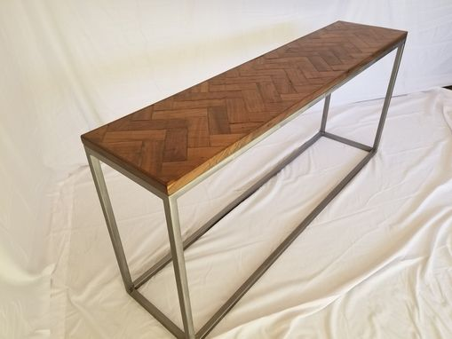 Custom Made Herringbone Console