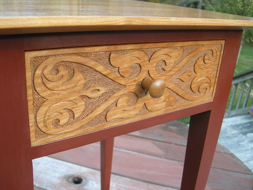 Custom Made Carved Nightstands