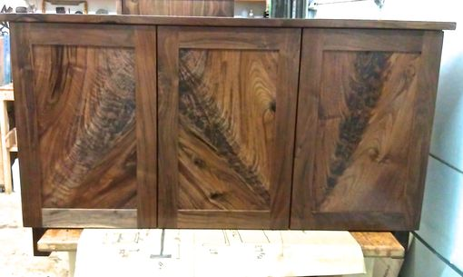 Custom Made Walnut Cabinets