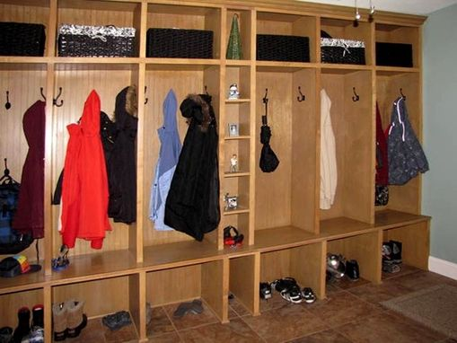 Custom Made Mud Room Cabinet