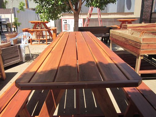 Custom Made 10' Redwood Picnic Table