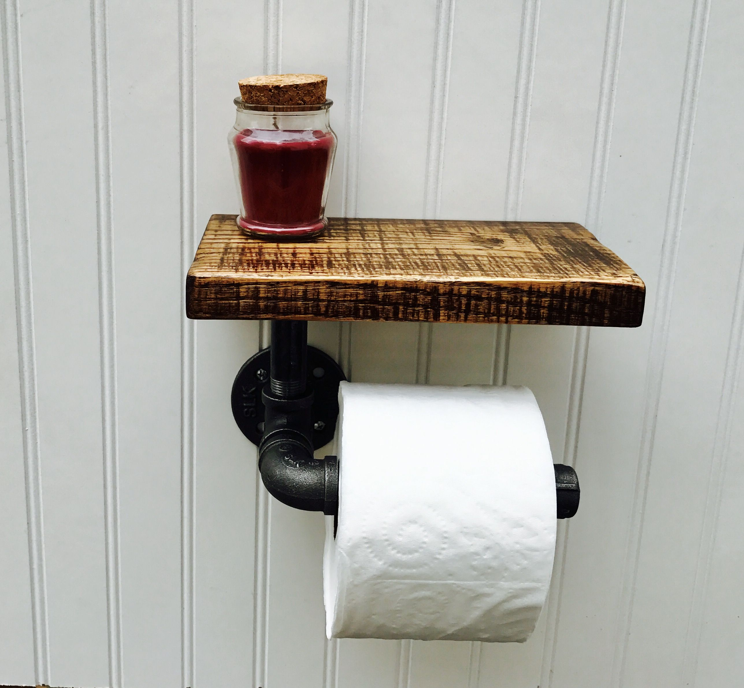 Buy A Hand Crafted Rustic Oak And Pipe Toilet Paper Holder Made To Order From Timberforge