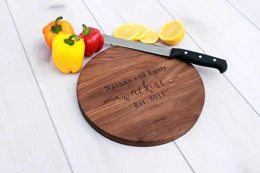 Custom Made Personalized Cutting Board, Engraved Cutting Board, Custom Wedding Gift – Cbr-Wal-Nathanemilywatkins