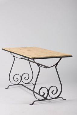 Custom Made Hand Forged Scroll Coffee Table, Cocktail Table