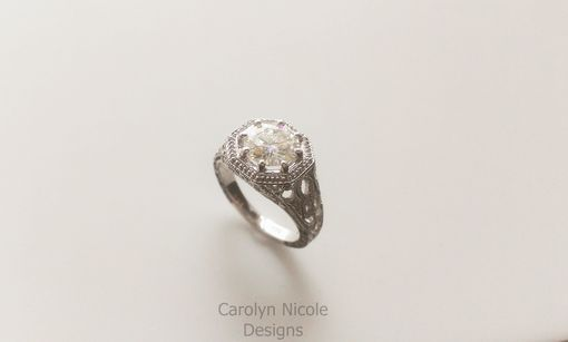 Custom Made Antique Filigree Engagement Ring