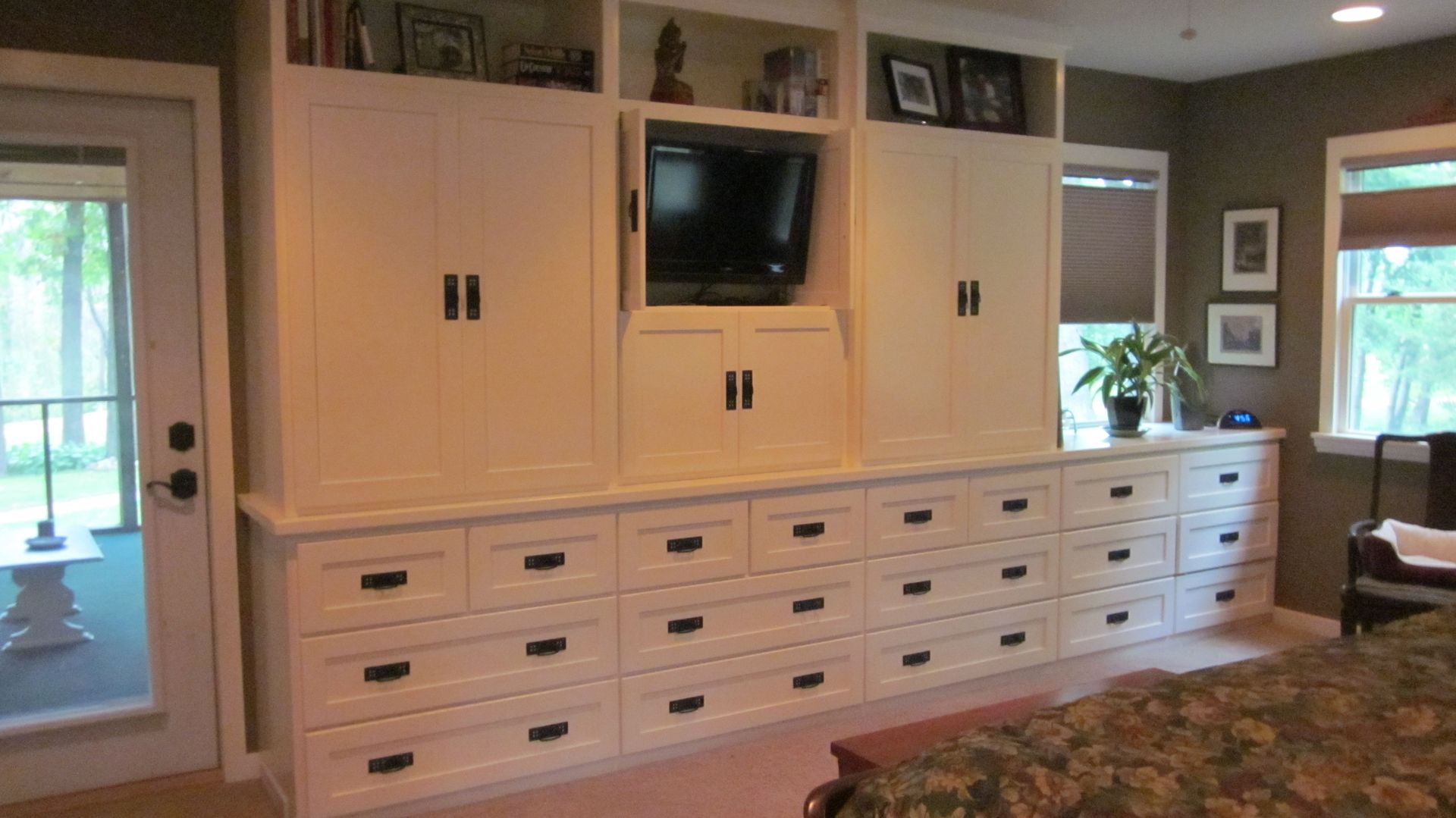 Custom Made Painted Mission Style Dresser Armoire