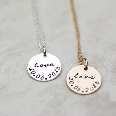 Custom Made Love Pendant With Special Date, Wedding Gift, Perfect For A Bride To Be