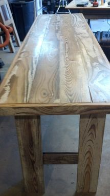 Custom Made White-Washed Hall Table
