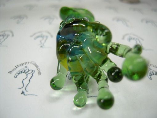 Custom Made Alien Finger Green Glass Focal Pendant