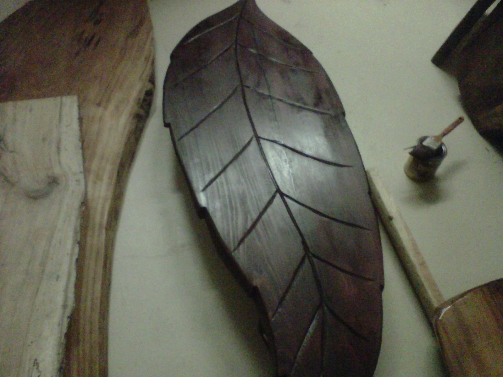 Custom Leaf Shaped Coffee Table by Rustic Wonders