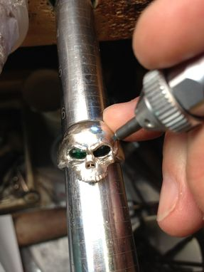 Custom Made Skull Pinky Ring