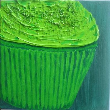 Custom Made Green Cupcake