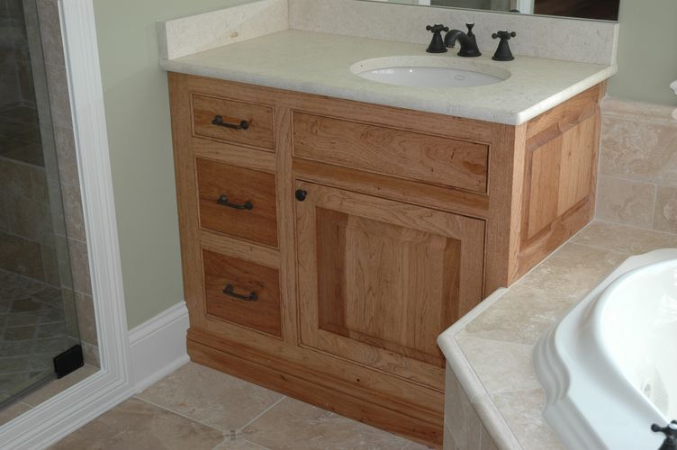 Custom Bathroom Vanities Denver hickory vanity cabinet | bar cabinet