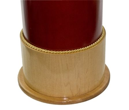 Custom Made Round Maple Shotgun Shell Taxidermy Pedestal
