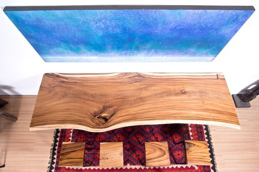 Custom Made Live Edge Wood Slab Table - Perfect For Conference Table / Home Office Desk