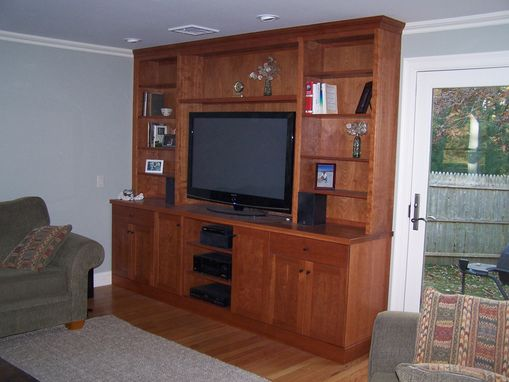 Custom Made Cherry Entertainment Center