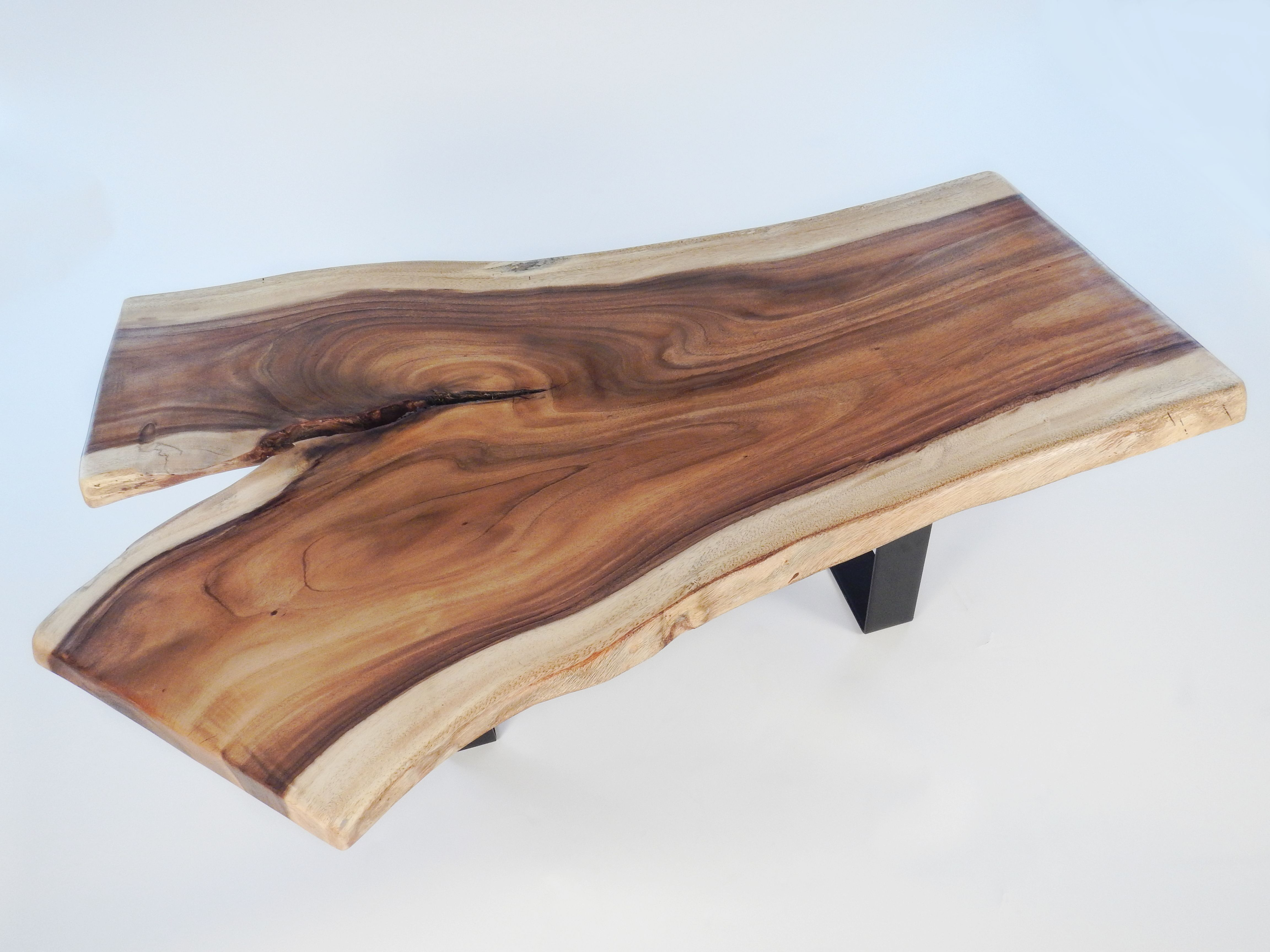 Custom Made Live Edge Monkey Pod Coffee Table