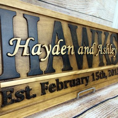 Custom Made Family Name Sign Established Sign Last Name Sign Wedding Gift Anniversary Gift Wood Sign