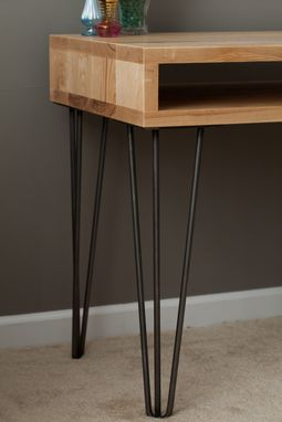 Custom Made Modern Desk With Hairpin Legs