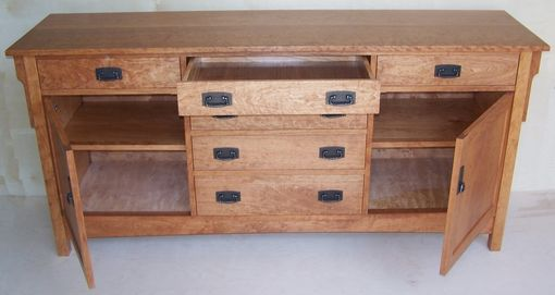 Custom Made Solid Cherry Arts & Crafts Buffet