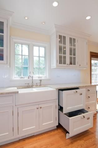 custom made white kitchen with inset doors by best cabinets