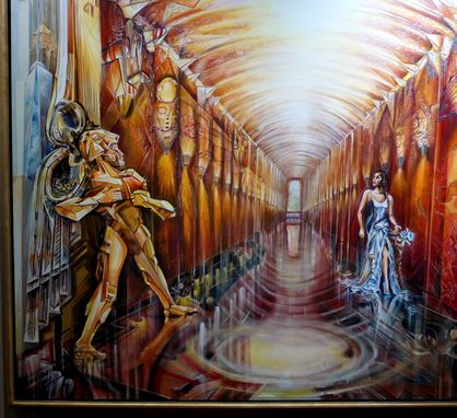 Custom Made Icarus As Ironman In Art Deco Manhattan Muralistwizard Of Oz Interior