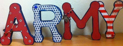 Custom Made Custom Wood Letter Set-4 Letters