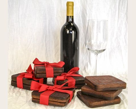 Custom Made Coasters - Wine Barrel Tank Wood