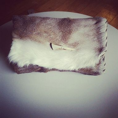 Custom Made Deer Hide Clutch With Antler