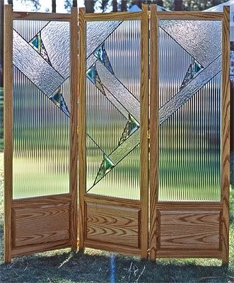 Custom Stained Glass Room Divider by Isaac D Smith Studio