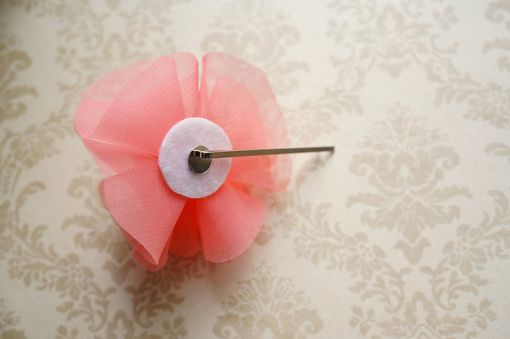 Custom Made Hair Pin With Flower Accent