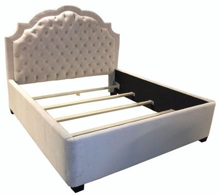 Custom Made Residential Scalloped Profile Tufted Bed
