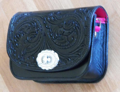 Custom Made Mini Carved Leather Clutch