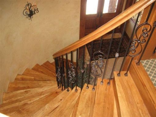 Custom Made Curved Cherry Stairs