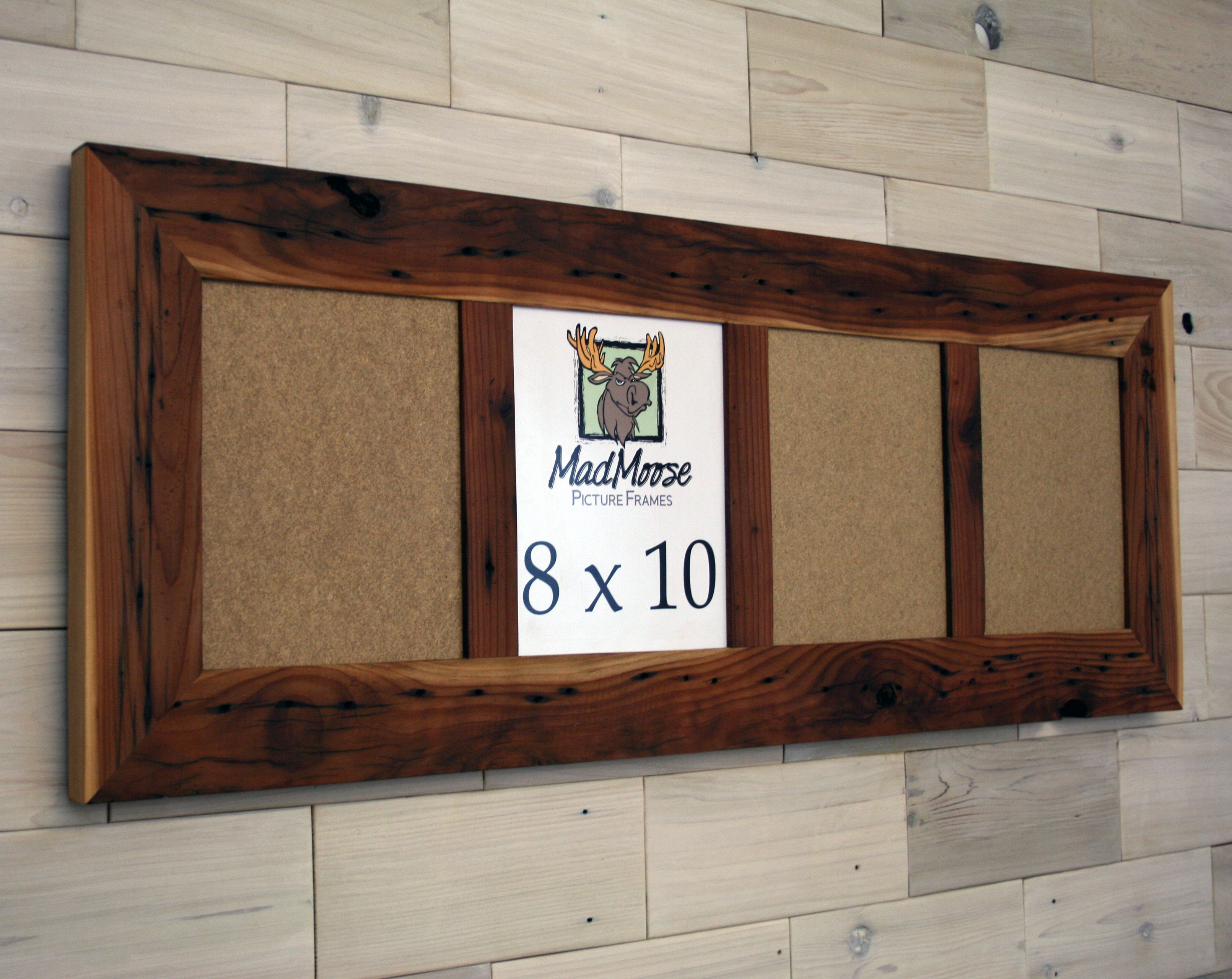 Buy Hand Made Reclaimed Redwood Picture Frame With Four 8x10 Panes ...