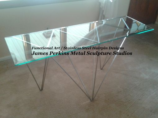 Custom Made Stainless Steel Hairpin / Metal Sculpture Base / Modern Geometric Designs