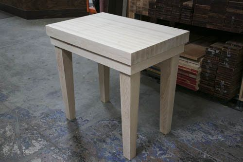 White Butcher Block Kitchen Table : Hand Crafted Custom White Oak Butcher Block Table by House Of Hardwood CustomMade.com