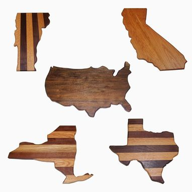 Custom Made United States Cutting Boards, All States With Laser Engraving