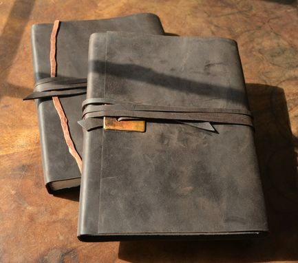 Custom Made Elegant Chic Handmade Leather Bound Lined Journal Luxury Book Set