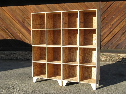 Custom Made Osb Cubby Bookcase Storage Unfinished