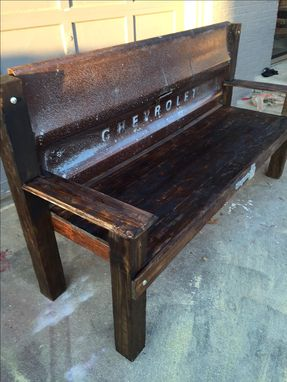 Custom Made Chevy Tailgate Bench