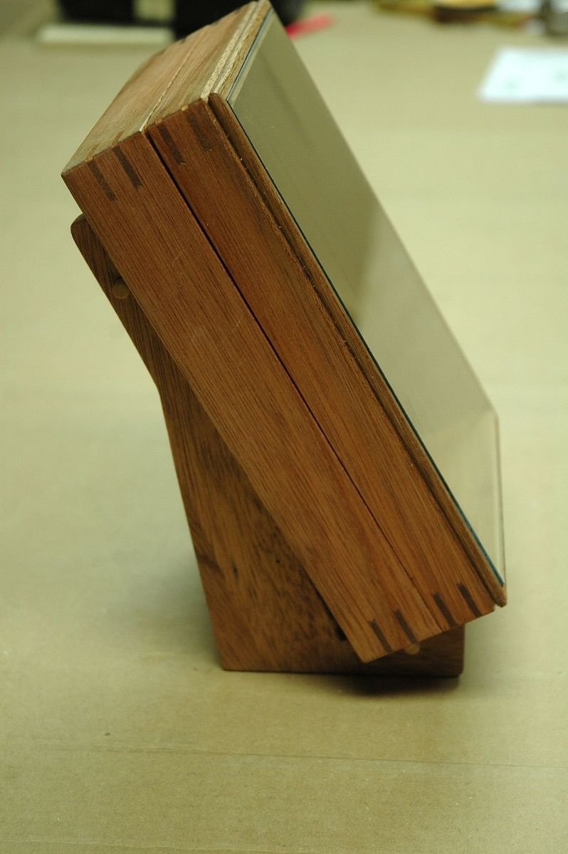 Custom Made Mahogany Book Display Box By Wooden It Be Nice