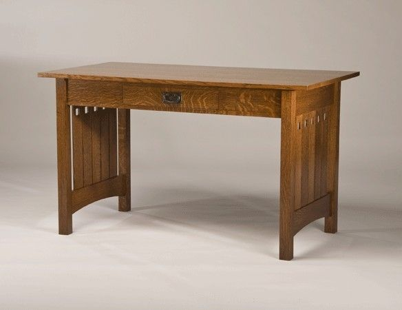 Custom Made Quarter Sawn White Oak Mission Style Desk