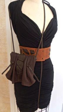 Custom Made Spotted Leather Corset Belt